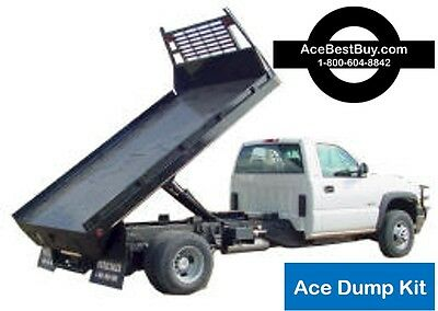 FLATBED Dump Bed Hoist Kit. Turn into dump truck. 15,000 lbs. Easy installation
