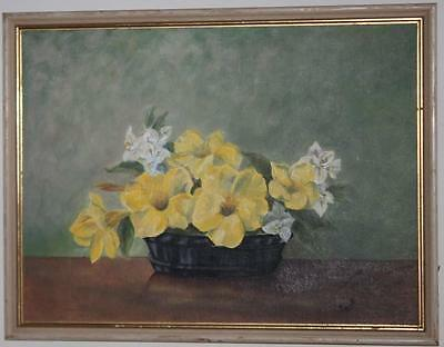 Signed Oil Painting on Canvas Still Life Framed - FREE Postage [PL934]