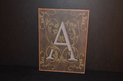 Metal Wall Hanging Plaque With Letter A -New
