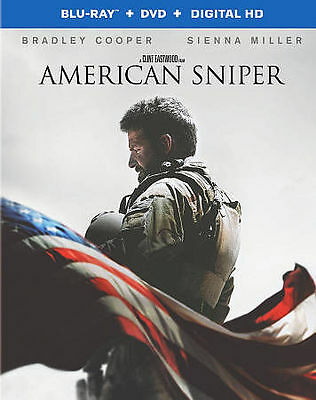 American Sniper (Blu-ray/DVD, 2015) BRAND NEW AND SEALED! FREE SHIP SLIPCASE