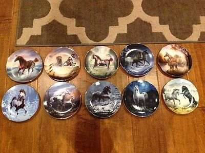 Horse plate collection. Unbridled Spirit Hamilton collection