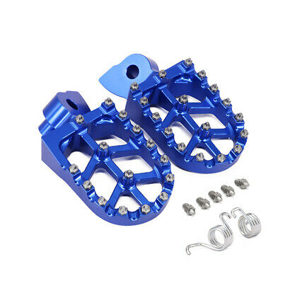 Billet MX Foot Pegs Rests Pedals For Yamaha WR250F WR400F WR426F WR450F Blue