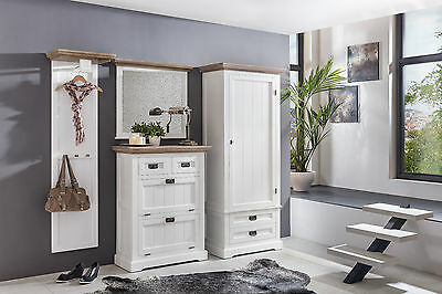 landhaus dielenm bel set fichte teilmassiv gek lkt schuhschrank kleiderschrank eur. Black Bedroom Furniture Sets. Home Design Ideas