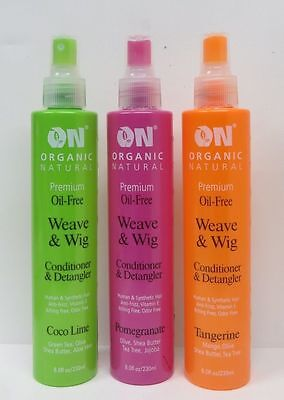 [On Organic Natural] Premium Oil Free Weave & Wig Conditioner & Detangler 8Oz