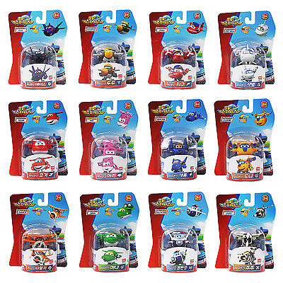 NEW Super Wings Mini Airplane 12 pcs Toy Set Transformer Children Kids Gift