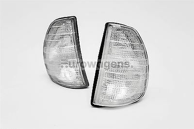 Mercedes W123 220 230 250 280 300 75-85 Clear Front Indicators Repeater Set Pair