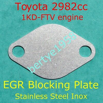 EGR blanking plate 3.0L 1KD-FTV Hilux Land Cruiser Hiace Fortuner 2982cc Block