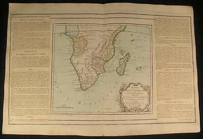 South Africa Madagascar Angola 1766 beautiful old vintage antique rare map