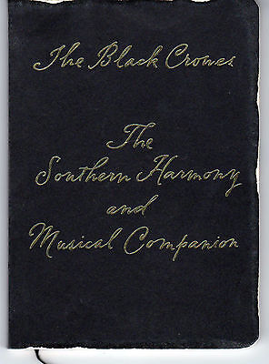Black Crowes Southern Harmony Rare Promo Poetry Hymn Book Chris & Rich Robinson