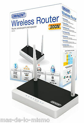 Router Inalambrico Eminent EM4544 Punto de Acceso WiFi N 300Mbps Switch Ethernet
