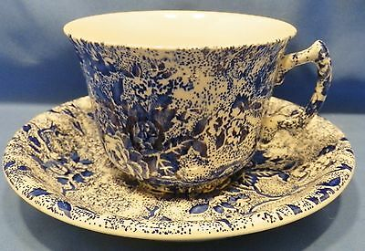 Laura Ashley Chintzware china blue / white, flat cup & saucer Staffordshire, UK