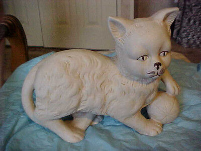 BISQUE CAT WITH BALL GERMAN? SIGNED