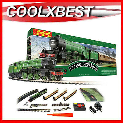 LARGE NEW HORNBY OO THE FLYING SCOTSMAN LNER 4-6-2 TRAIN SET 155 x 113CM R1167