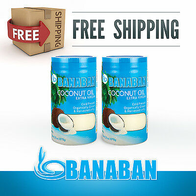 BANABAN Organic Fiji grown Virgin Coconut Oil 2 x 1 Litre - FREE SHIPPING