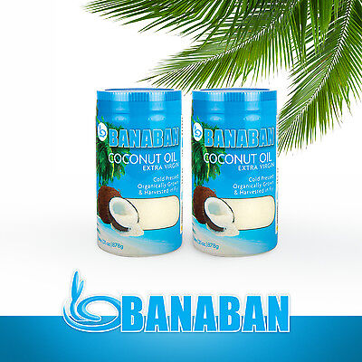 BANABAN Organic grown Virgin Coconut Oil 2 x 1 Litre