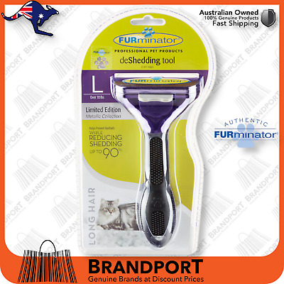 FURminator Deshedding Tool Brush Comb for Large CATS Long Hair Pet 100% GENUINE
