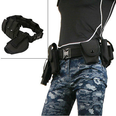 Tactical Heavy Duty Police Security Guard Equipment Duty Utility Belt Pouches AU