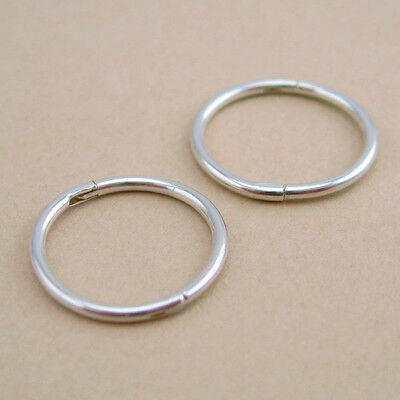 925 Solid Sterling Silver Sleepers 8/10mm Aust Made