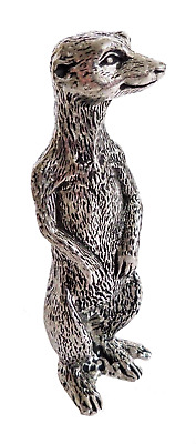 Meerkat Mother Pewter Ornament - Hand Made in Cornwall - SF58