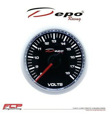 DEPO RACING DIGITAL BATERIESPANNUNG ANZEIGE / VOLTAGE GAUGE CSM-W5291B 52mm