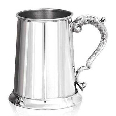 Personalised 1 Pint British Made Pewter Tankard Any Message Engraved Free