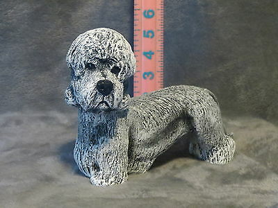 Dandie Dinmont Terrie Plaster Dog Statue Hand Cast And Painted By T.c.schoch