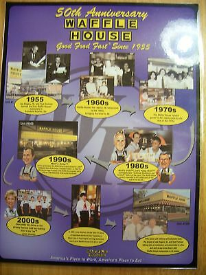 A Waffle House® Restaurant 50th Anniversary menu from 2005.