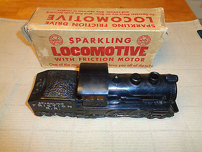 MARX SPARKLING LOCOMOTIVE WITH FRICTION MOTOR 1950S WITH BOX RARE NOT IN A BOOK