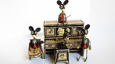 Marx Merrymakers Mouse Band Wind Up Tin Toy EXCELLENT CONDITION Works Great !!
