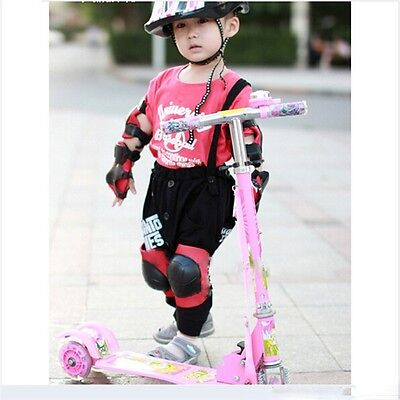 Kid Protective Gear Set Equipment Pad Knee Elbow Wrist for Inline Skating Bike B