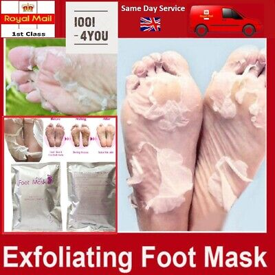 Exfoliating Peel Foot Sock Mask Baby Soft Feet Removes Dead Skin