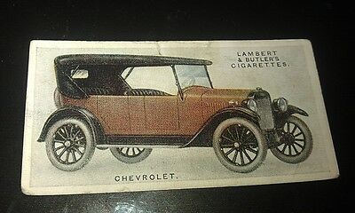 1923 CHEVROLET  Touring Car Lambert & Butler UK Cigarette Card