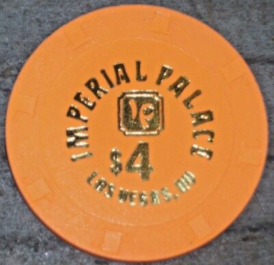 $4 Gaming Chip From The Imperial Palace Casino Las Vegas Nv Very Rare