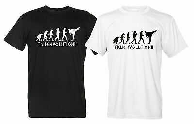 True Evolution Maglietta Arti Marziali Uomo Donna T-Shirt judo karate