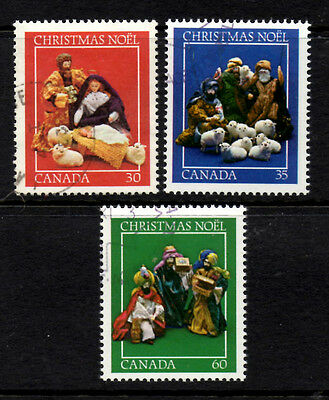 (Ref-4831) Canada 1982 Christmas SG.1080/1082 Used set of 3