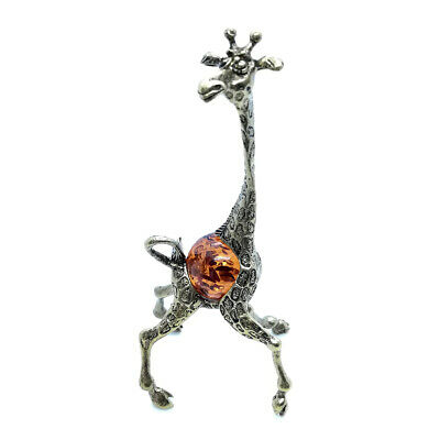 Bronze Brass Figurine Statuette Russian Animal Giraffe Baltic Amber IronWork 17