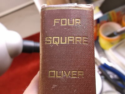 "Old Vtg Antique 1929 Book ""four Square, The Story Of A Fourfold Life"" Oliver"