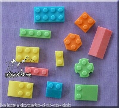 Building Bricks Silicone Cake Decorating Mould by Alphabet Moulds
