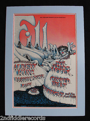 Albert King-Ten Years After-Canned Heat-1968 Fillmore Poster-Bill Graham #bg-126
