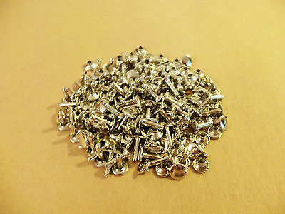 """Double Cap Rapid Rivets 7/16"""" Nickel Plated (100 pack)"""