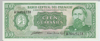 1952 100 Guaranies Paraguay Banknote - UNC - Pick 198 A76425238