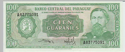 1952 100 Guaranies Paraguay Banknote - UNC - Pick 198 A83775091