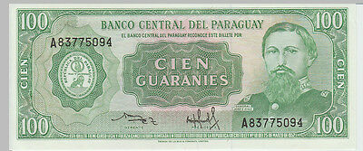 1952 100 Guaranies Paraguay Banknote - UNC - Pick 198 A83775094