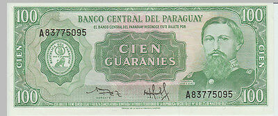 1952 100 Guaranies Paraguay Banknote - UNC - Pick 198 A83775095