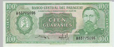 1952 100 Guaranies Paraguay Banknote - UNC - Pick 198 A83775096