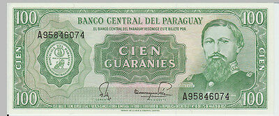 1952 100 Guaranies Paraguay Banknote - UNC - Pick 198 A95746074