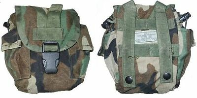 US Military Army Woodland MOLLE II Canteen Cover Utility Pouch