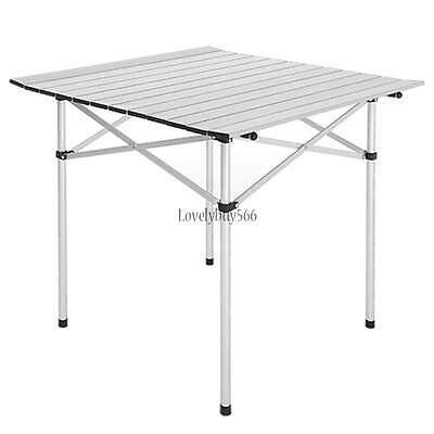 Outdoor Picnic Table Portable Folding Camping Dining Roll Up Aluminum Garden  LB