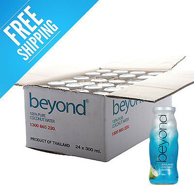 BEYOND Pure Coconut Water 24 x 300ml glass FREE SHIPPING