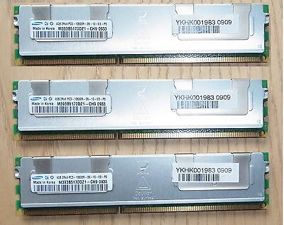 Fujitsu RAM 12 GB 3x 4GB DDR3 PC3-10600R REG ECC M393B5170DZ1-CH9 RX200 RX300 S6